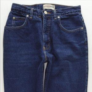 London High Rise Mom Jeans Slim Womens 10 Vtg 0635
